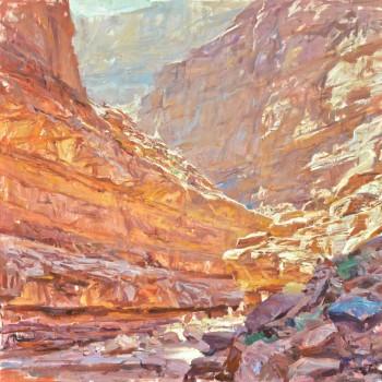 Quang-Ho_Slot-Canyon-of-the-Grand-Canyon_-Oil-on-Panel_48x48
