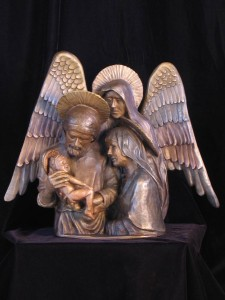 Lynn Kircher, Holy Family, Windows Exhibition 2009 (Private Collection)