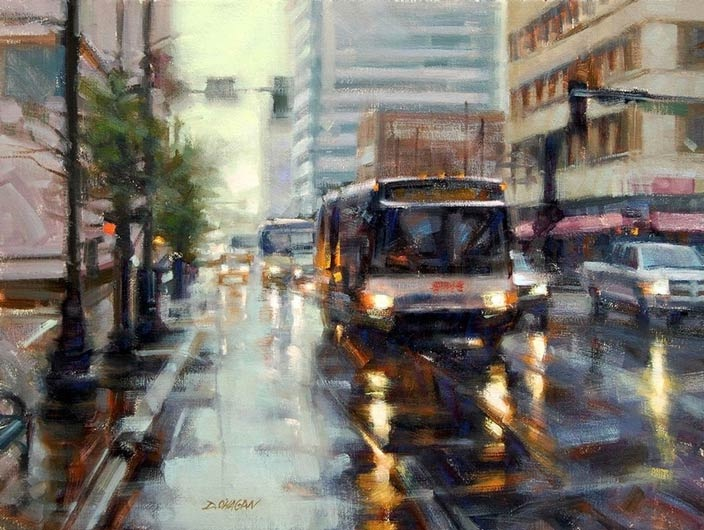 #101_Windows-Paint-Out-2012_O'Haga_Desmond_Denver-Rain_Private-Collection