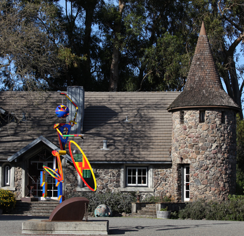 di Rosa Collection Historic Residence with Figure of Speech Sculpture by Robert Hudson