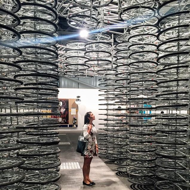Art Basel 2015 Ai Weiwei, Stacked; artnet news, 6/6/15; Photo: Instagram@alexandracoorssen