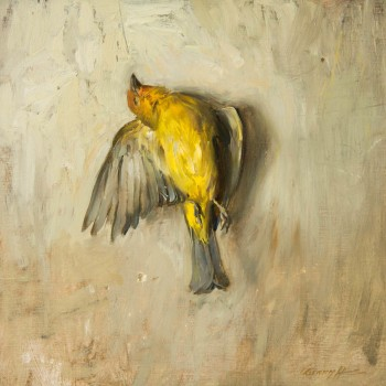 Requieum-for-A-Western-Tanager,-16x16,-oil-on-linen