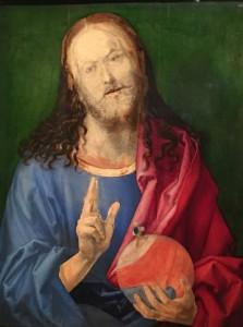 Albrecht Dürer, Salvator Mundi (ca. 1505)(Oil on Linen), Metropolitan Museum