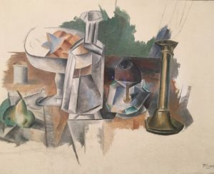 Pablo Picasso, Carafe and Candlestick (1909) (Oil on Canvas), Metropolitan Museum
