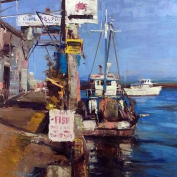 Spooner_Robert_Fresh-Fish-Live-Crab_Oil-on-Board