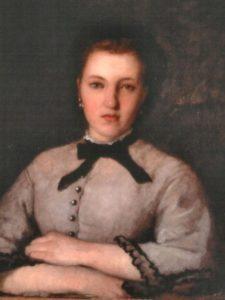 Portrait of Marie-Zélie LaPorte (detail), 1864, oil on canvas, Musée des Beaux-Arts de Limoges