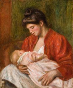 Mower Exhibition, Pierre-Auguste Renoir, The Young Mother (La Jeune mere), 1898, oil on canvas, 22 x 18