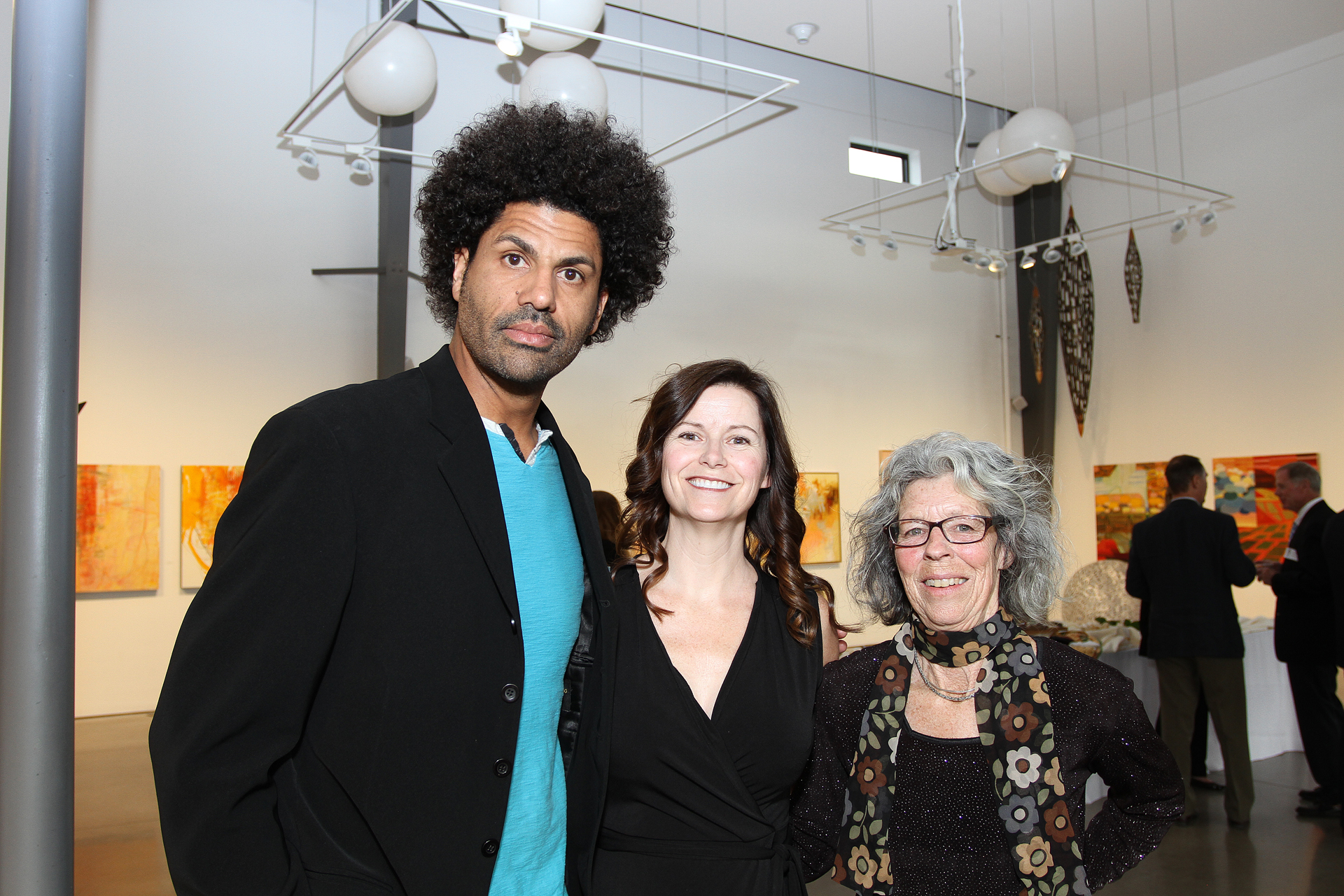 21 – IMG_5009_Opening Gala, Windows 2018 Artists, Michael Gadlin, Jane Hunt, Carol Jenkins