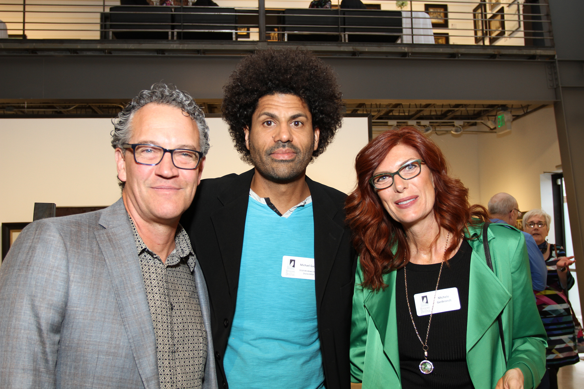 23 – IMG_5028_Opening Gala_Windows 2018 Artists, Ron Gerbrandt, Michael Gadlin & Michele Gerbrandt