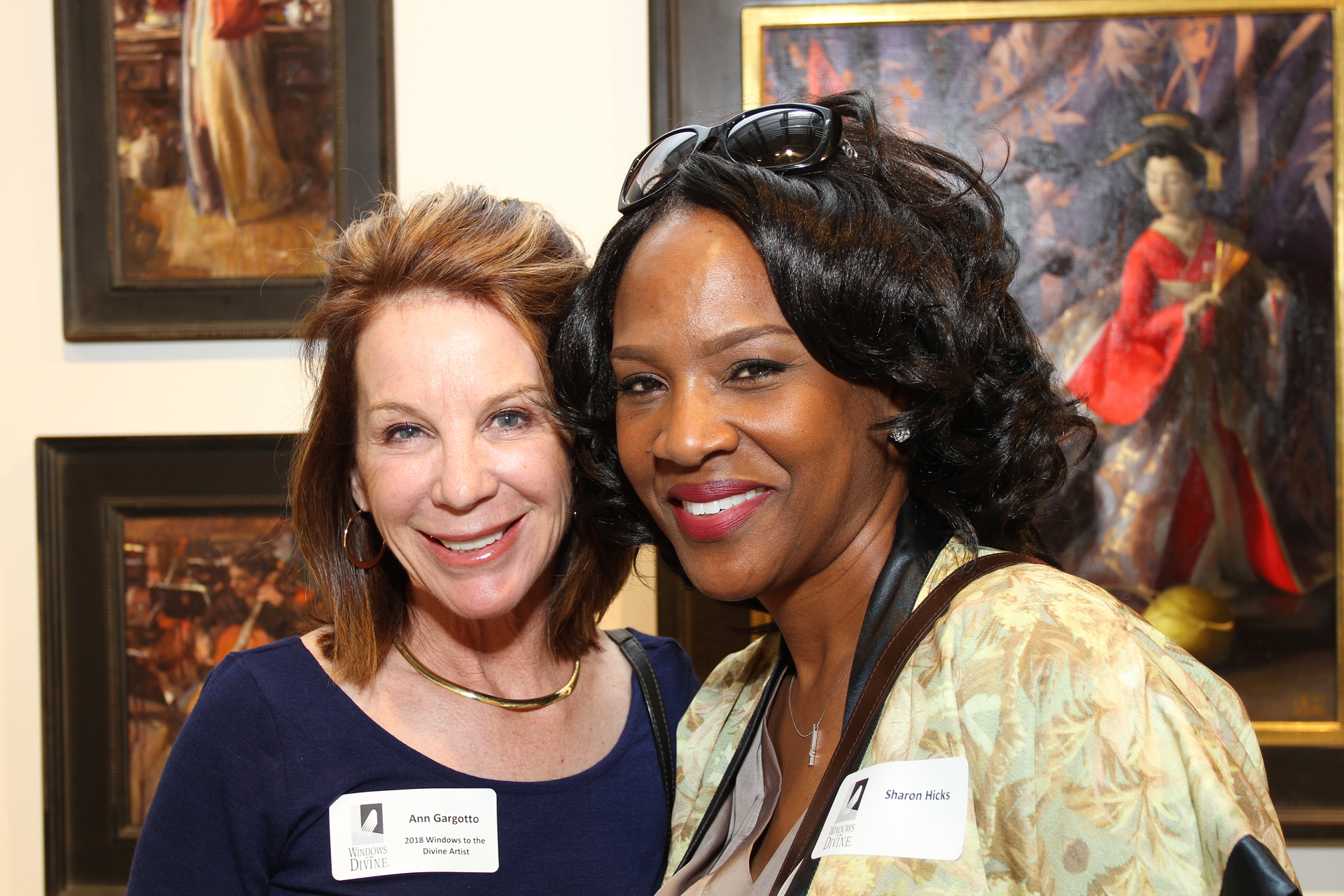 25 – IMG_5037_Opening Gala_Windows 2018 Artist Ann Gargotto, Sharon Hicks