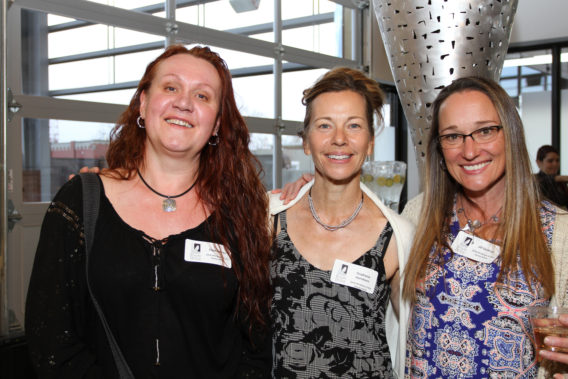 27 – IMG_5065_Opening Gala_Windows 2018 Artists, Olga Ivanov, Stephanie Hartshorn & Jill Soukup