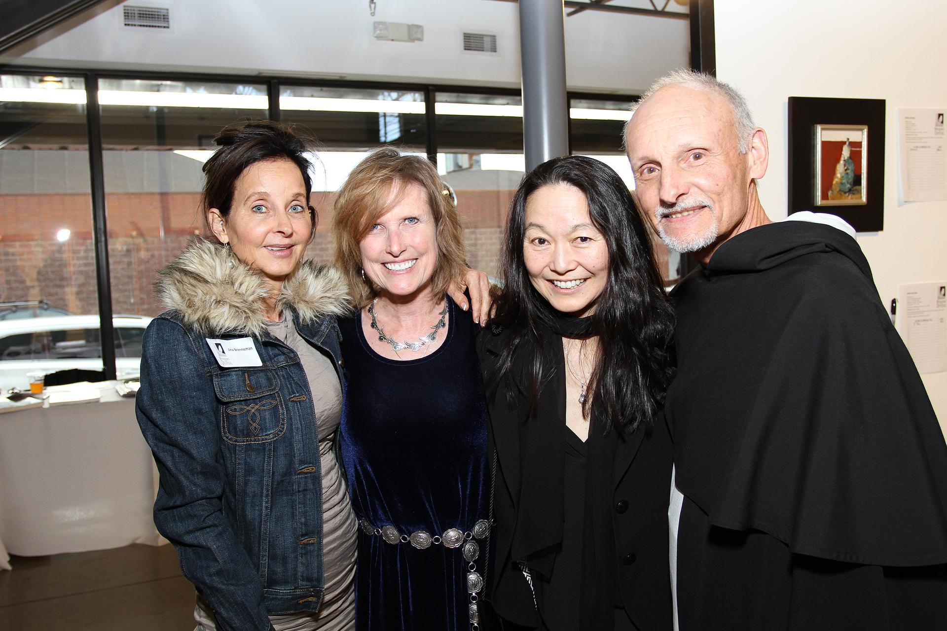 28 – IMG_5030_#204Q5030 Opening Gala_Jina Brenneman, Founding Connoisseur, Lynn Countryman, Margaret Kasahara, Rev. Bob Keller