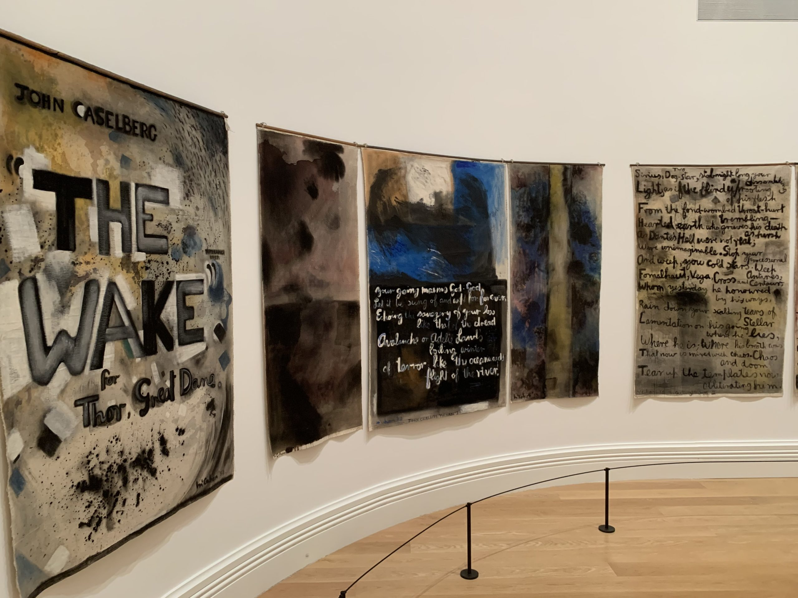 Colin McCahon, <em>'The Wake': A Poem in the Forest</em>, 1958, Auckland Art Gallery