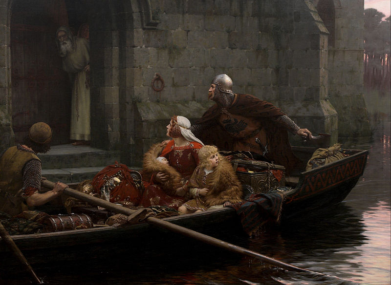 Edmund Blair Leighton, <em>In Time of Peril</em>, 1897, Auckland Art Gallery