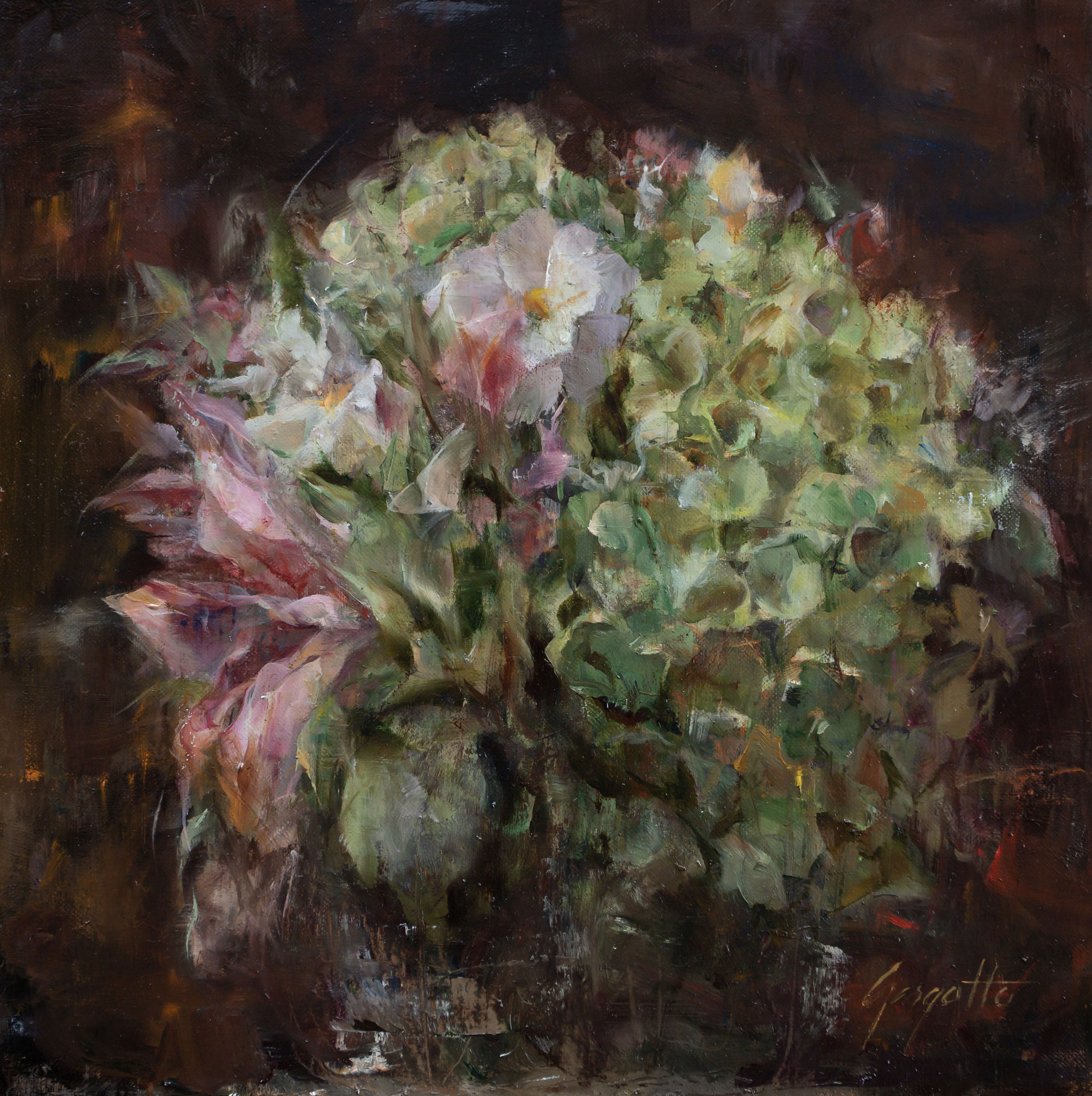 Gargotto_Ann_Full-Bouquet_high-res,-Oil_Linen-on-Foamcore-Panel_12x12_$1,100.00
