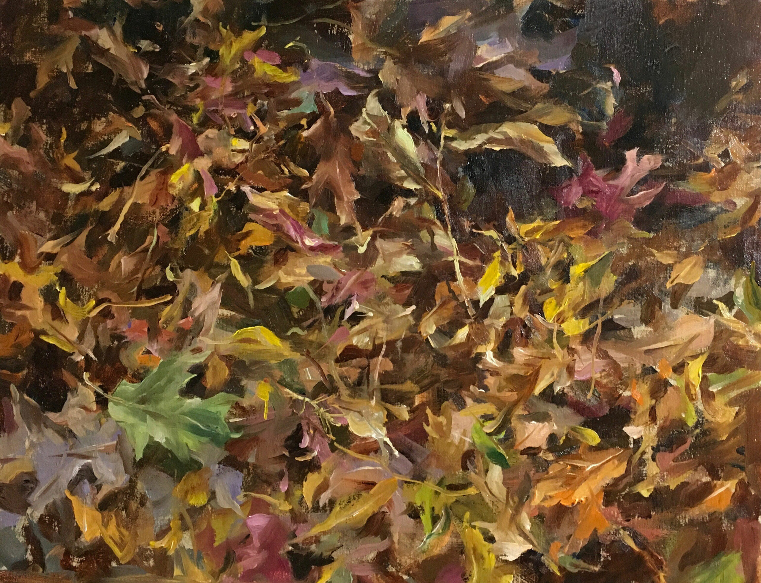 Ma,-Kyle,-Late-Autumn-Forest,-Oil,-14-x-18,-$2,400
