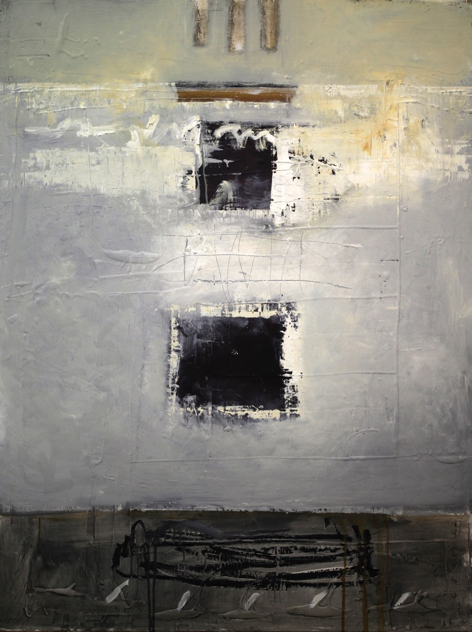 McCaw, John, Windows_Mixed media on board_60 x 45 x 3_$11,500