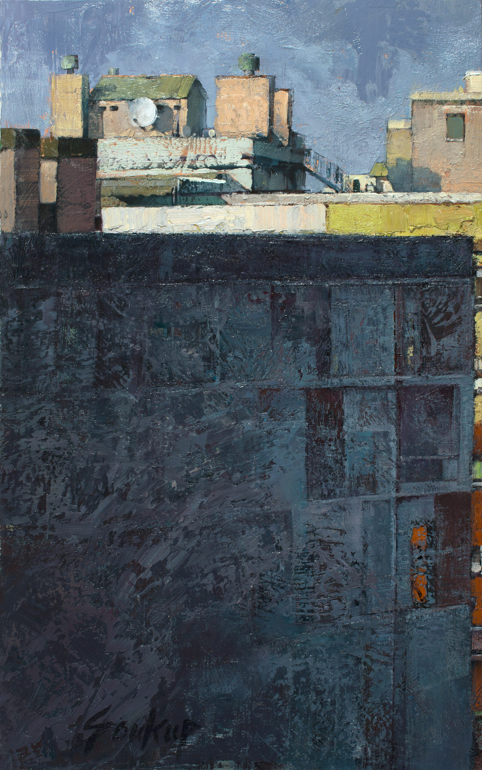 Soukup,-Jill,-Window-View-Barcelona,-39_5-x-24_5_oil-on-canvas,-$7,800